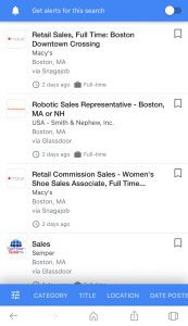 Google for Jobs feeds candidates a targeted list of job openings based on search.